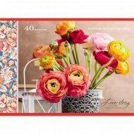 Альбом для рисования «Цветы в резной вазе».