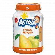 Пюре грушево-яблочное «Агуша», 200 г.