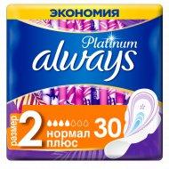 Гигиенические прокладки «Always Platinum» нормал плюс, 30 шт.