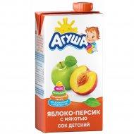 Сок детский «Агуша» яблоко/персик, 500 мл.