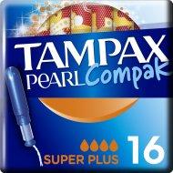 Тампоны женские «Tampax» Compak Pear, с аппликатором, Super Plus, 16 шт