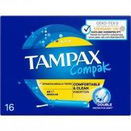 Тампоны женские «Tampax» Compak Pearl, с аппликатором, Regular, 16 шт