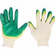 Перчатки вязаные с 2-слойным латексным покрытием 13 класс.