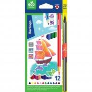 Цветные карандаши «Корабли» пластиковые, 12 цветов + 1 HB.