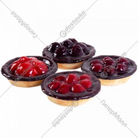 Набор пирожных «Ягодные корзинки» 4x100 г.
