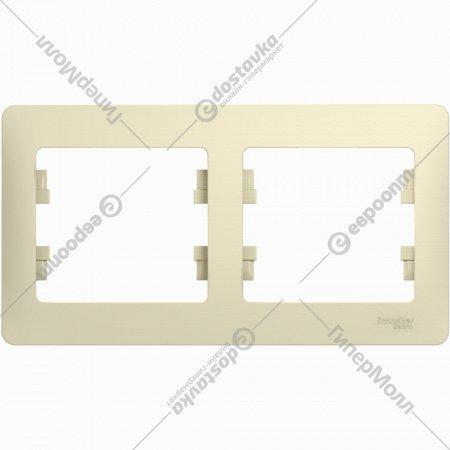 2-постовая рамка «Glossa» горизонтальная, GSL000202.