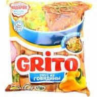 Лапша «Grito» соус из говядины, 80 г.