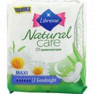 Прокладки женские «Libresse» Natural Care Maxi Goodnight, 7 шт.