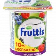 Продукт йогуртный «Fruttis» легкий лесные ягоды,ананас-дыня 0.1%,110г.