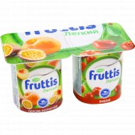 Продукт йогуртный «Fruttis» легкий вишня, персик-маракуйя 0.1 %,110 г.