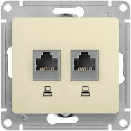 Розетка «Glossa» двойная компьютерная RJ45+RJ45, механизм, GSL000285KK.