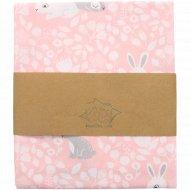Пеленка «Зайчики на розовом» 85х90, DE 0351.