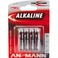 Элементы питания «Ansmann» Alkaline-red-1.5V-AAA-BL4.