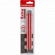 Набор чернографитных карандашей «Erich Krause» 3 шт.