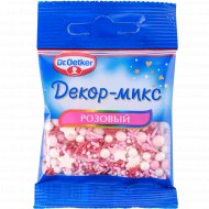 Посыпка кондитерская «Декор-микс» розовый, 10 г.