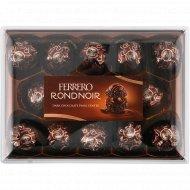 Конфеты хрустящие «Ferrero Rondnoir» покрытые темным шоколадом, 138 г.