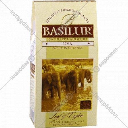 Чай чёрный «Basilur» «Leaf of Ceylon Uva» 100 г.