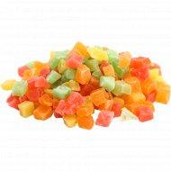 Папайся сушеная цукаты (микс) 8-10мм, 1кг., фасовка 0.44-0.45 кг