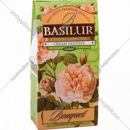 Чай зелёный «Basilur» кремовая фантазия листовой 100 г.