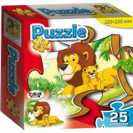 Пазл «Лев и львёнок» 25 элементов.