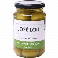 Оливки с косточкой крупные «Jose Lou» пастеризованные, 355 г.