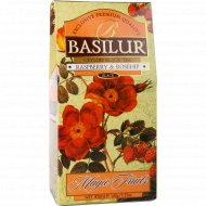 Чай черный «Basilur» волшебные фрукты малина и шиповник, 100 г.