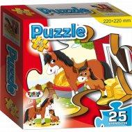 Пазл «Лошадка и жеребёнок» 25 элементов.