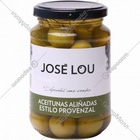 Оливки с косточкой «Jose Lou» по-провански, пастеризованные, 350 г.