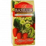 Чай черный «Basilur» волшебные фрукты клубника и киви, 100 г.