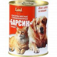Корм для кошек и собак «Барсик» Гурман, стерилизованный, 338 г.
