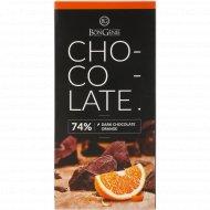 Темный шоколад «BonGenie Orange» 74%, 100 г