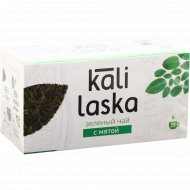 Чай зелёный «Kali Laska» с мятой, 25 фильтр-пакетов по 1.7 г,42.5 г.