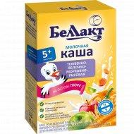 Каша молочная «Беллакт» тыквенно-яблочно-морковно-рисовая, 250 г.