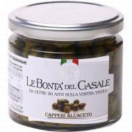 Каперсы в винном уксусе «Le Bonta Del Casale» пастеризованные, 200 г.