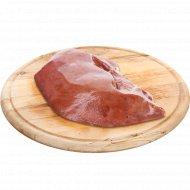 Печень свиная, замороженная, 1 кг., фасовка 0.9-1.5 кг