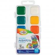 Краски акварельные «Классическая» медовая, 10 цветов, без кисти.