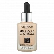 Основа тональная «Catrice» HD Liquid Coverage Foundation, тон 010, 30 мл.
