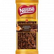 Шоколад «Nestle» декорированный, со вкусом карамельного брауни, 80 г