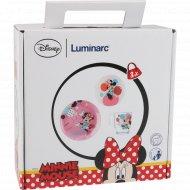 Набор для завтрака стеклянный, детский «Party Minnie» 3 предмета.