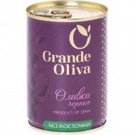 Оливки черные «Grand Oliva» без косточки, 280 г.