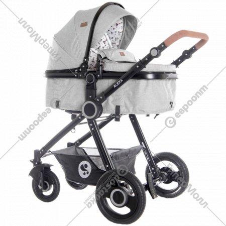 Детская коляска «Lorelli» Alexa 3 в 1 Dark Grey Lighthouse.