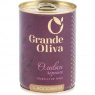 Оливки черные «Grande Oliva» с косточкой, 280 г.