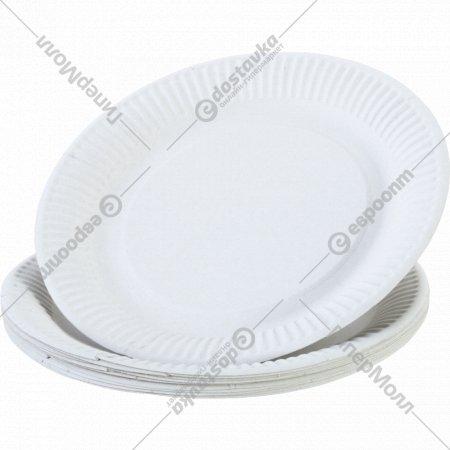 Тарелка бумажная, белая, 230 мм, 100 шт.