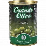 Оливки зелёные «Grande Oliva» фаршированные лимоном, 280 г.