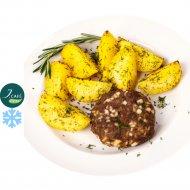 Бифштекс из говядины с картофелем отварным «J.Cafe Bistro» 80/170 г.
