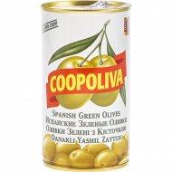 Оливки зеленые «Coopoliva» с косточкой, 350 г.