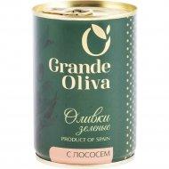 Оливки зелёные «Grande Oliva» фаршированные лососем, 280 г.