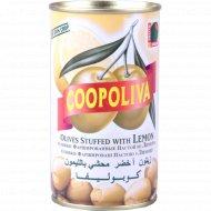 Оливки зелёные «Coopoliva» с лимоном 350 г.
