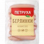 Сосиски из мяса птицы «Берлинки» высшего сорта, 400 г.