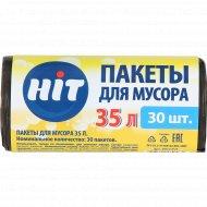 Пакеты для мусора «Hit» 35 л, 30 шт